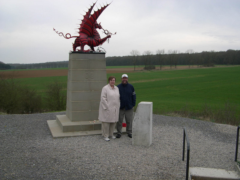 Dick and Susan at the Welsh Memorial.