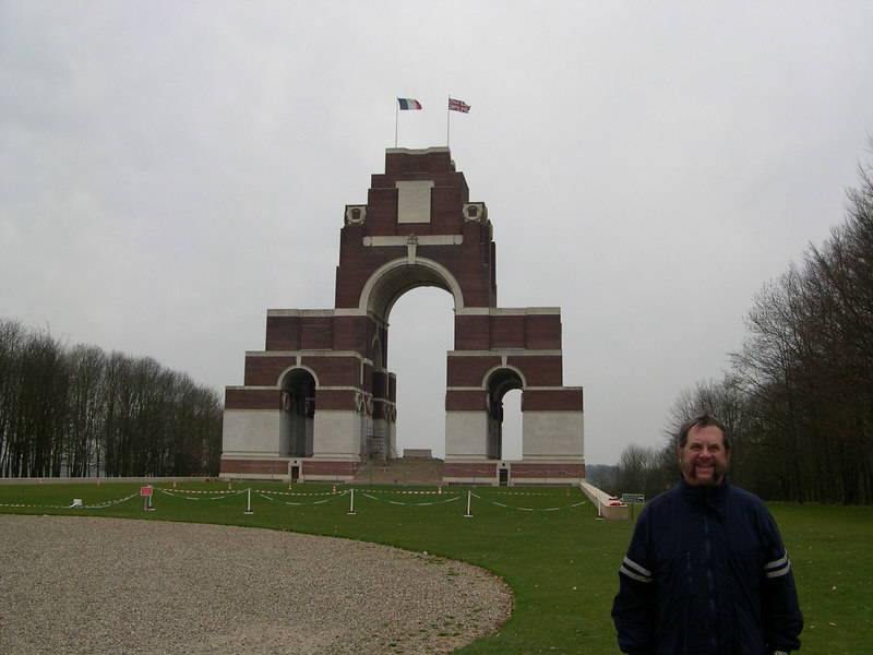The Thiepval Anglo-French memorial at the Somme.  Carved into the walls of the monument are the names of over 73,000 Commonwealth soldiers killed at the Somme with no known grave elsewhere.