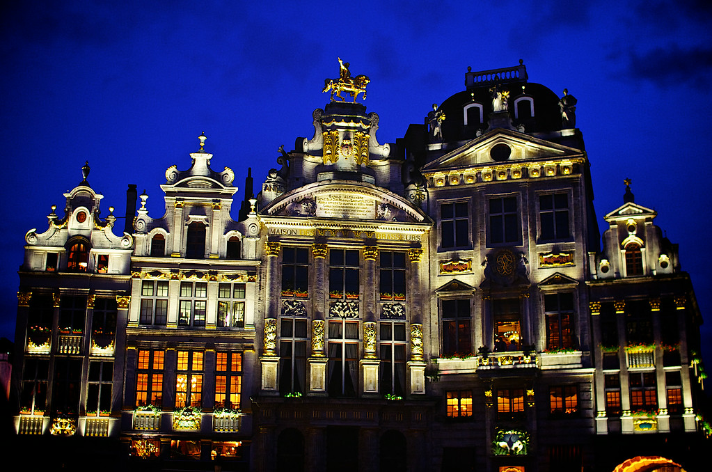 Brussels Grand Place at Night