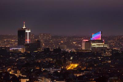 Vue du haut de la tour Reyers