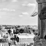 Vue du haut de la tour de l'hotel de ville de Saint-Gilles