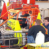 Mike Boesel and Bryan Gossel last test for Chili Bowl 2011