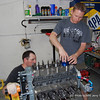 Crew cheif Nate Edwards & Bryan Gossel drop the first piston!