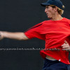Toby hitting a forehand