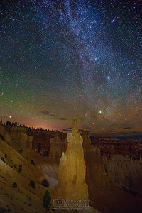"""Asgard Star Party,"" The Milky Way over Thor's Hammer, the Three Sisters and the Temple of Osiris, Bryce Canyon National Park"