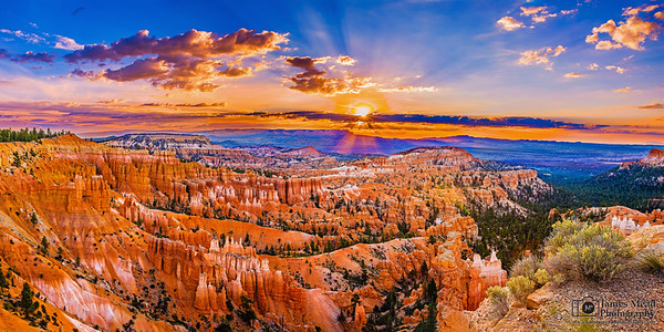 """Radiant Beams From Afar,"" Bryce Canyon National Park, Utah"