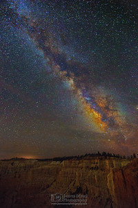 """Sleepless,"" The Milky Way over Bryce Amphitheate, Bryce Canyon National Park"