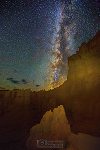 """The City Walls,"" The Milky Way over the Silent City, Bryce Canyon National Park"