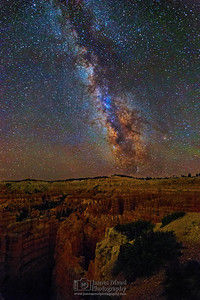 """Divine Night,"" The Milky Way over the Silent City and Wall Street, Bryce Canyon National Park"