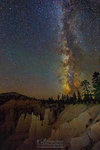"""Fairyland Dreams,"" The Milky Way over Fairyland Canyon and Fairyland Castle, Bryce Canyon National Park"