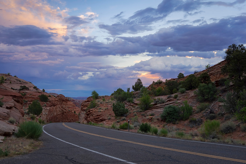 Sunset at Scenic Byway 12