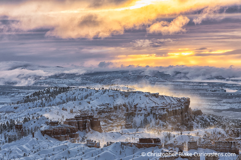 Bryce - Winter Clouds and Sun