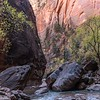 Boulders in the Zion Narrows.