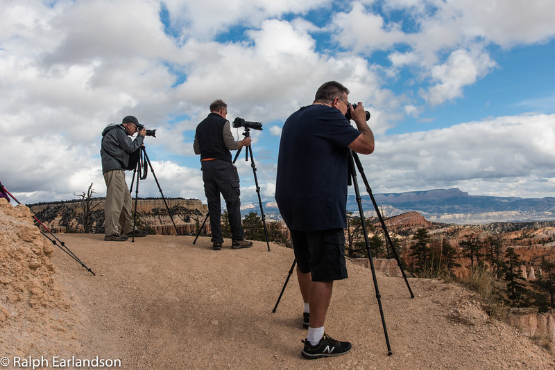 Workshop photographers line up at Bryce Canyon.