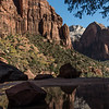 Reflection in the Middle Emerald Pool in Zion.