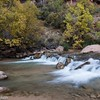 Cascade on Virgin River in Zion.