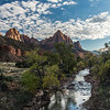 The Watchman and the Virgin River in Zion.