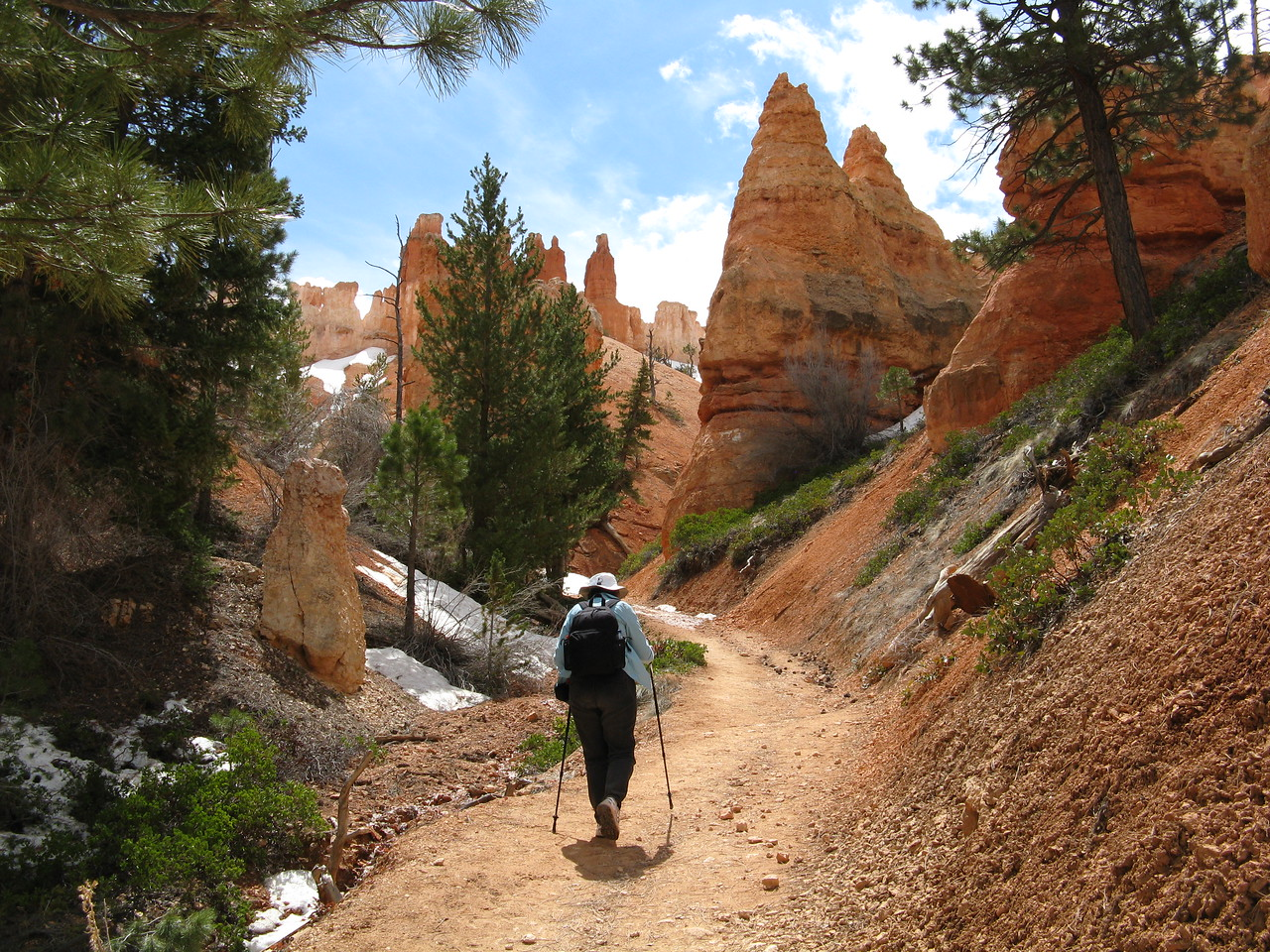 The trail took us up and down through the hoodoos.