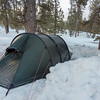 I to took me a good two hours to shovel snow and setup my tent.