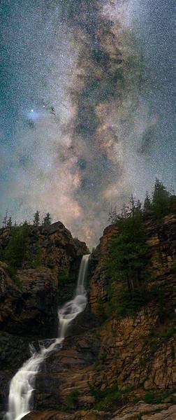 Waterfall under the Stars