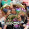 Keith Johnson from Rhode Island was at the Leominster Public Library on Tuesday with his show and knowledge of bubbles. During his show Johnson put a dinosaur inside a bubble. SENTINEL & ENTERPRISE/JOHN LOVE