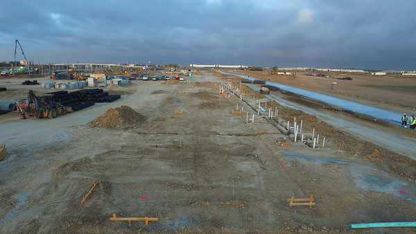 Bucees Wash Trench installation