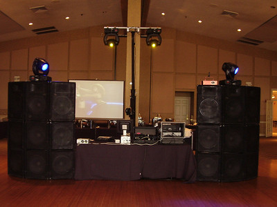 yes you are seeing right 6 x double 18's - 6 x 15's video dance party  high-end yoke lighting SLAMMIN' SOUND AND LIGHTING BUCKEYE HIGH PROM 2007