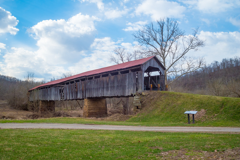 Road Fork Knowlton Covered Bridge