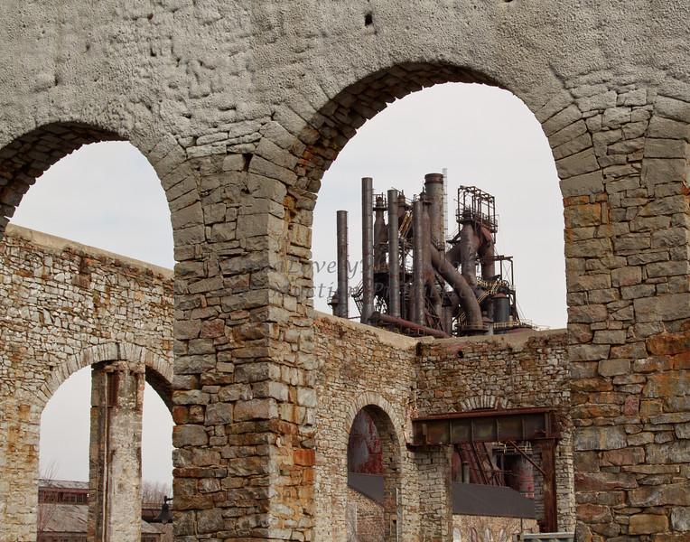 Bethlehem Steel Stacks Through Arches, PA