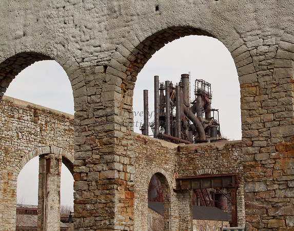 Bethlehem Steel Stacks Through Arches, PA