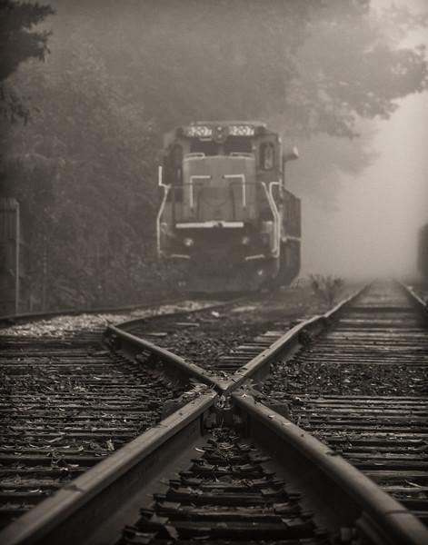 Foggy Train Tracks