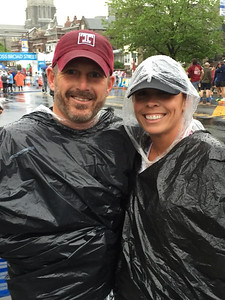 Christina Shadle, right, with Chris Hartman, both from Doylestown. Christina finished the 2016 Broad Street Run in 1:12 while Chris ran a 1:06.