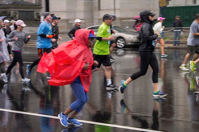 Rain gear was the order of the day in the annual Broad Street Run 10-miler. A slow but steady shower doused runners with moisture throughout the 37th annual BSR.