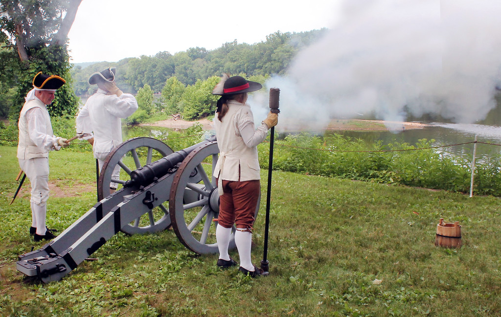 . Loud booms echoed through the river valley during artillery demonstrations at the park.