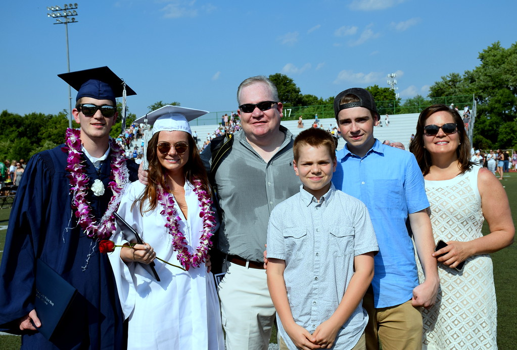 . Zachary Rothenberg and Emily Stranford, 2017 graduates with Emily\'s family. Debby High for Digital First Media