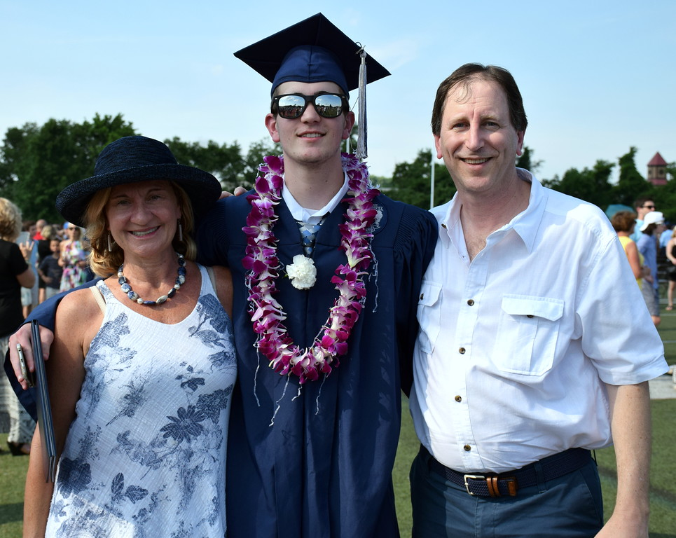 . As Council Rock High School North graduation ceremony ended, Zachary Alexander Rothenberg was joined with his folks. Debby High for Digital First Media