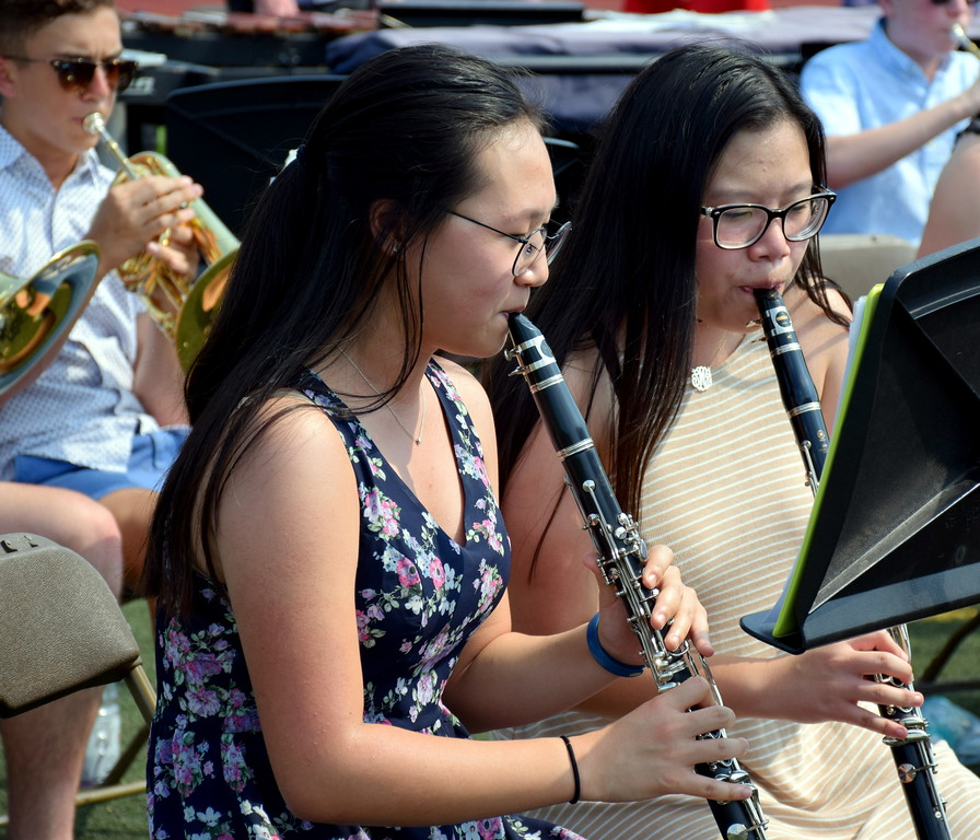 . Council Rock High School North - Combined Bands played during Commencement for the Class of 2017 on Tuesday, June 13, 2017. Debby High for Digital First Media