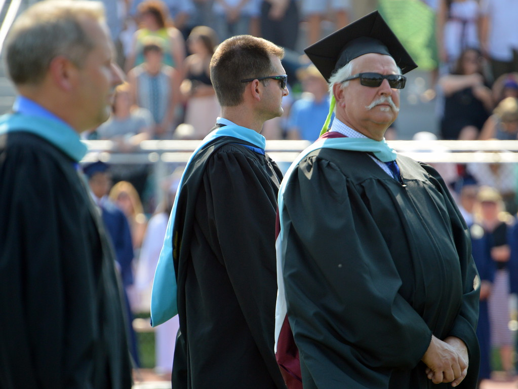 . Council Rock High School North Administration stood the heat at the 2017 Graduation Cememony. Debby High for Digital first Media