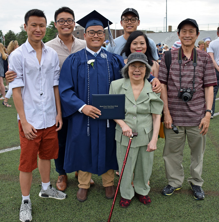 . Duke Wu, Class President with his family after Council Rock North Commencement 2018 on June 20, 2018. Debby High for Digital First Media