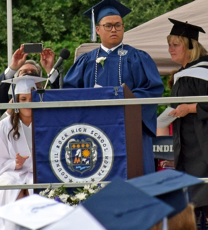 . Duke Wu Class President at Commencement Council Rock North Graduation 2018 on June 20, 2018. Debby High for Digital First Media