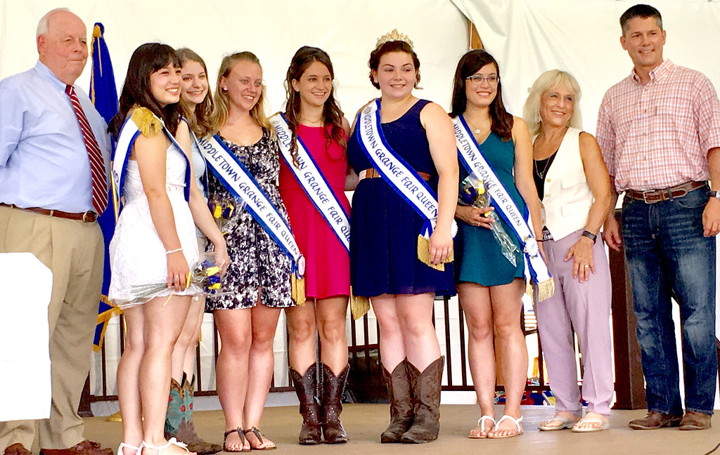 . The Bucks County Commissioners with this year\'s Queen, Sarah Liebel, and former queens.The Bucks County Commissioners with this year\'s Queen, Sarah Liebel, and former queens.