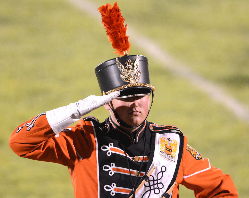 . Pennsbury Drum Major Reed Grumann. PHOTO BY JEFF GOLDBERG
