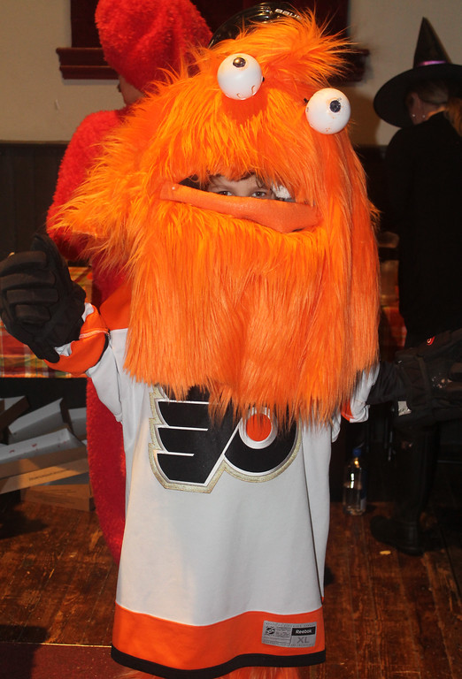 . Declan Nichol - Gritty, the Philadelphia Flyers\' new mascot - won first place in the sports category.