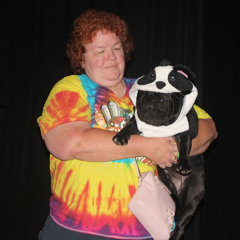 """. Denise and Harvey Feeny won third in the Pampered Pets category for \""""Panda.\"""""""