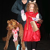 "Ava, Charlie and Baxter Hirschmann won first place in the Pampered Pets category for ""The Muppets,"""
