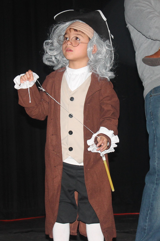 . Max Shoener (Ben Franklin) won third place in TV and Movies.