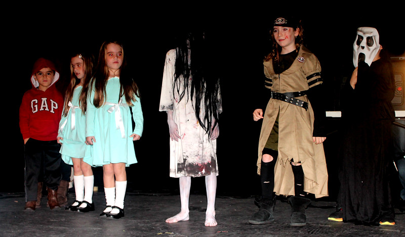 The scariest category of them all - Halloween Horror - brought chills to the event. That's  Katherine, Talia, and Max Tannenbaum from The Shining;  Rebecca Schottmiller from The Ring; Ava Sophie Boland as a Zombie Hunter; and the Scream!.