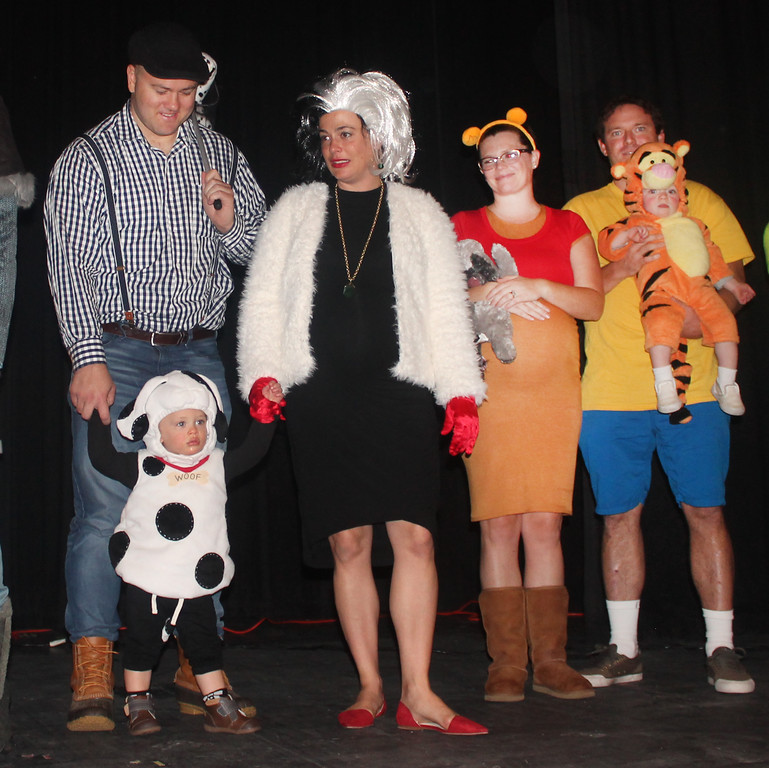 . Christian, MC, and Christian Laubscher won third prize in Parent and Child for 101 Dalmations.  They are pictured with the Winnie the Pooh Clan.