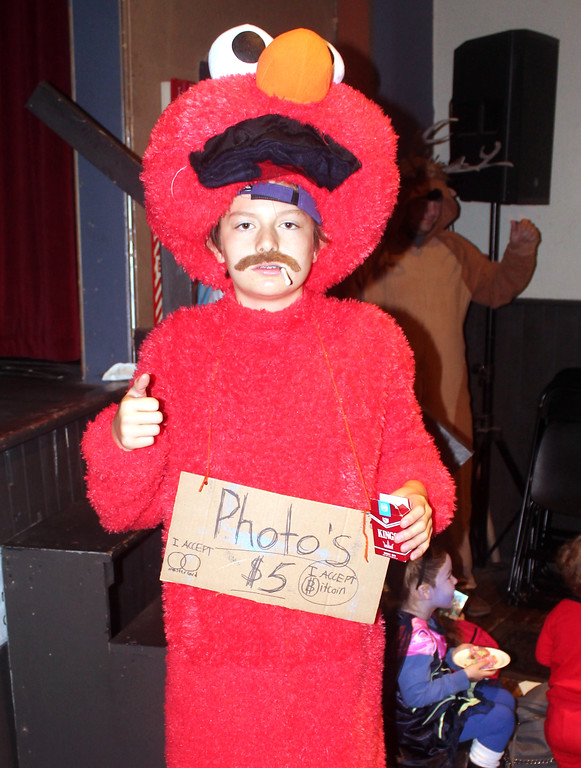 . Connor McCormick (Bad Elmo) won first place in Halloween Humor.