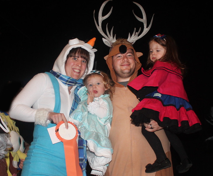 """The Ivcic Family won first place in TV & Movies for """"Frozen."""""""
